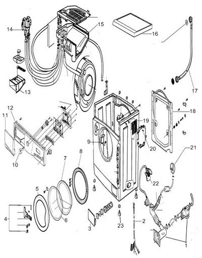 1- Сливной мотор (помпа)